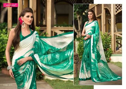 Picture of  ORIGINAL INDIAN Satin Georgette Festival Wear Saree