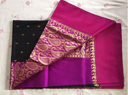 Picture of ORIGINAL INDIAN HAND-LOOM SOFT SILK KATAAN SHAREE