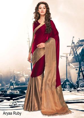 Picture of ORIGINAL INDIAN COTTON SILK Saree
