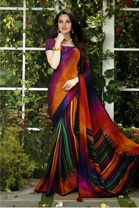 Picture of Original Indian Jacquard Silk  Party Saree