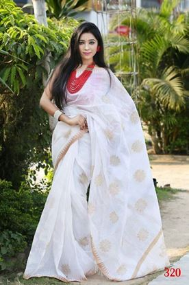 Picture of  SOFT COTTON SAREE White