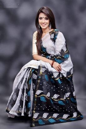 Picture of  COTTON SAREE Black & White