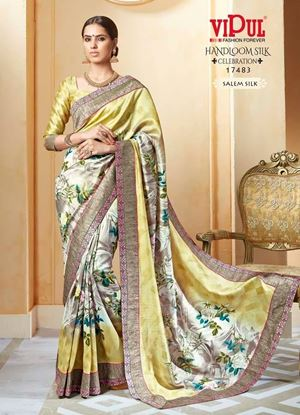 Picture of Original Indian Handloom SALEM SILK Saree