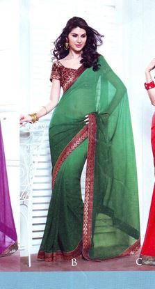 Picture of ORIGIN INDIAN Soft Georgette Green