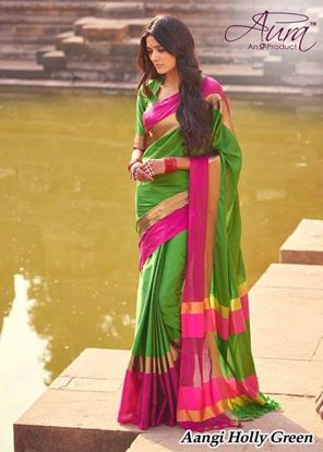 Picture of  ORIGIN INDIAN COTTON SILK Saree Green