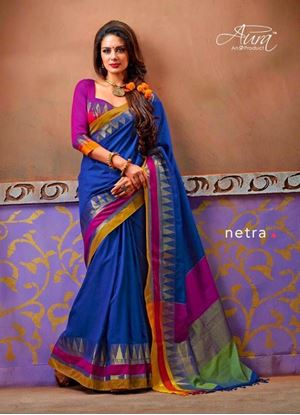Picture of  ORIGIN INDIAN COTTON SAREE DEEP BLUE