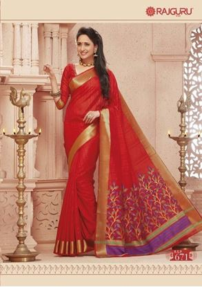 Picture of Origin INDIAN Pure Raw-Silk Kataan Saree