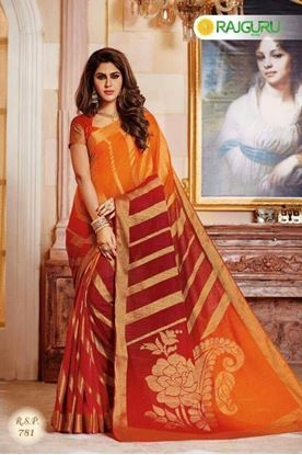Picture of Original Indian Pure Raw-Silk Kataan Saree