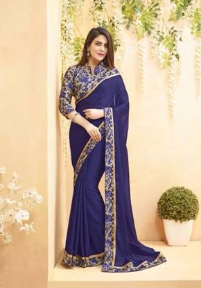 Picture of Original Indian Georgette Deep Blue