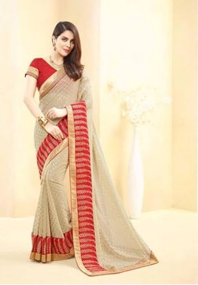 Picture of Original Indian faux georgette Beige Colour
