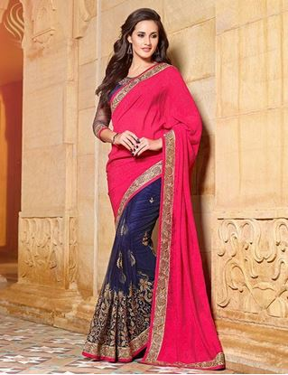 Picture of Original Indian Nett With Chiffon JQ Pallu