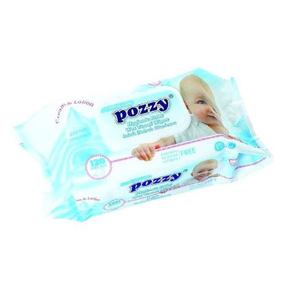 Picture of Pozzy Baby Wet Towel Wipes(Flip Cap) -120Pcs/Can)-24Can/Ctn