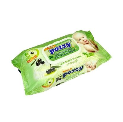 Picture of Pozzy Baby Wet Towel Wipes(Flip Cap) -72Pcs/Can)-24Can/Ctn