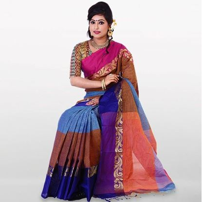 Picture of  Multi Color Cotton Traditional Saree