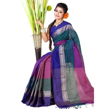Picture of Multi-color Cotton Saree For Women