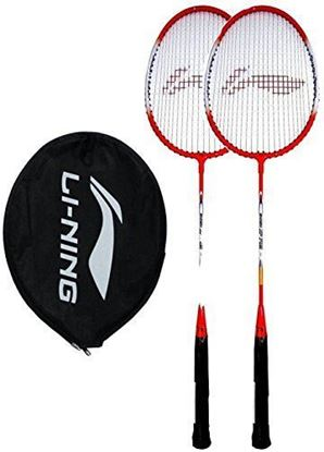 Picture of Li-Ning Smash Series Orange & White Made Of Aluminum Soft Flex Badminton Racquet