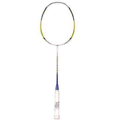 Picture of Li-Ning Code Black 10 Windstorm Carbon Fiber Badminton Racquet, Size S2 (White/Lime)