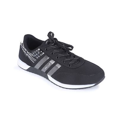 Picture of Synthetic Casual Sport Shoe For Men - Black