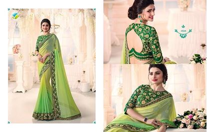 Picture of Original Indian Georgette Saree Light Green