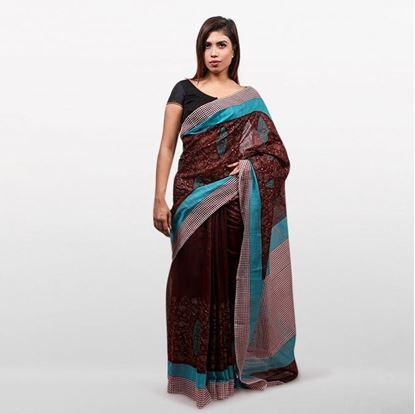 Picture of  Coffee Cotton Saree For Women
