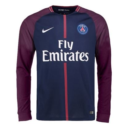 Picture of 2017-18 Paris Saint-Germain(PSG) Home Full Sleeve Jersey