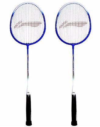 Picture of Li-Ning Smash XP 707 Strung Badminton Racquet (Set of 2) Blue/White