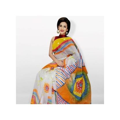Picture of  Multicolor Cotton Kota Handprint Saree