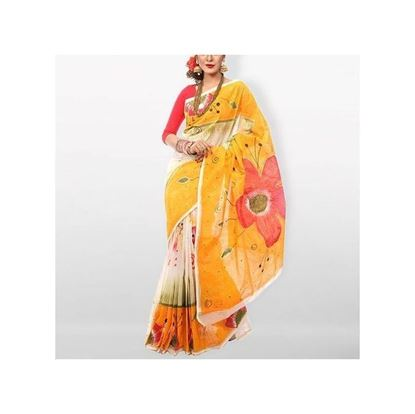 Picture of Multicolor Colorful Boishakhi Hand Toly Print and Block