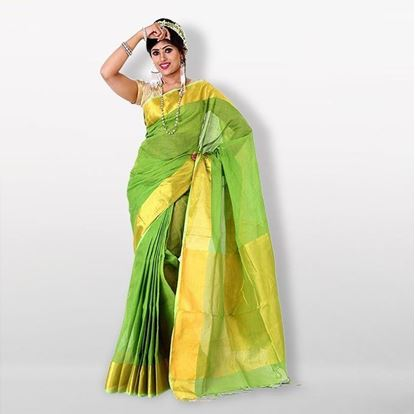 Picture of  Multicolor Pure Cotton Saree For Women