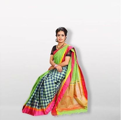 Picture of  Multicolor Cotton Saree