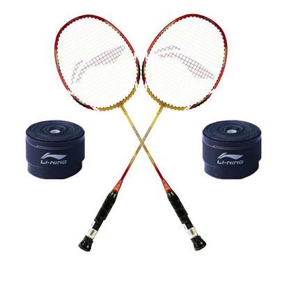 Picture of Li-Ning XP 90 II 2PC Badminton Racquet + 2PC GP 20 Grip Super Saver Combo