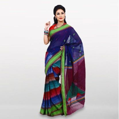 Picture of Multi Color Cotton Casual Saree