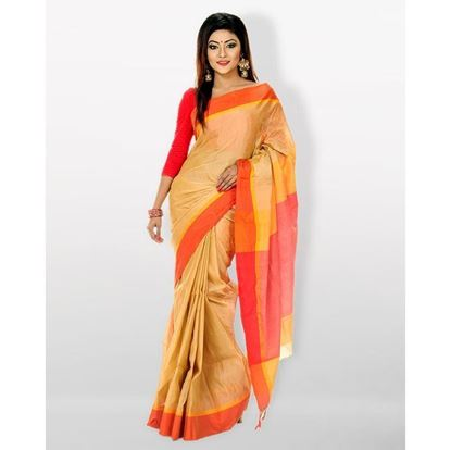 Picture of  Tosor Silk Casual Sharee - Golden