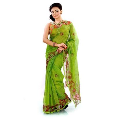 Picture of Silk Casual Sharee - Olive