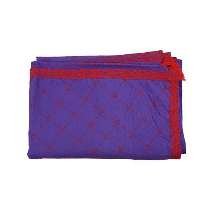 Picture of  Cotton Hand Crafted Nakshi Kantha - Violet