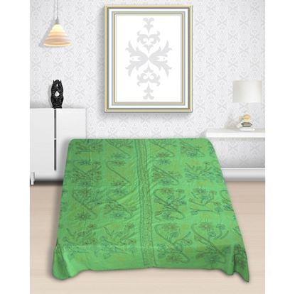 Picture of Hand Made Cotton Nakshi Kantha - Green