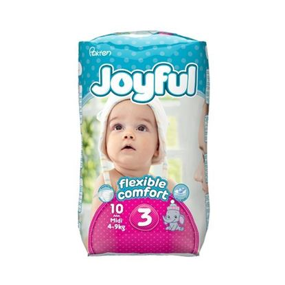 Picture of Joyful Baby Diaper Midi - Flexible Comfort (4-9Kg) - 10Pcs