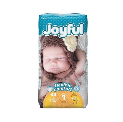 Picture of Joyful Baby Diapers New Born - Flexible Comfort (2-5Kg) - 44Pcs