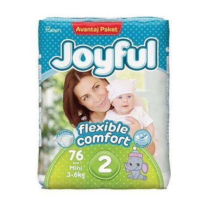 Picture of Joyful Avantaj Baby Diaper Mini - Flexible Comfort (3-6Kg) - 76Pcs