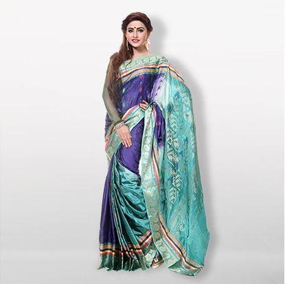 Picture of  Multicolor Pure Silk Saree For Women