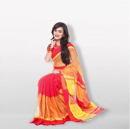 Picture of  Multicolor Cotton Kuta Saree For Women