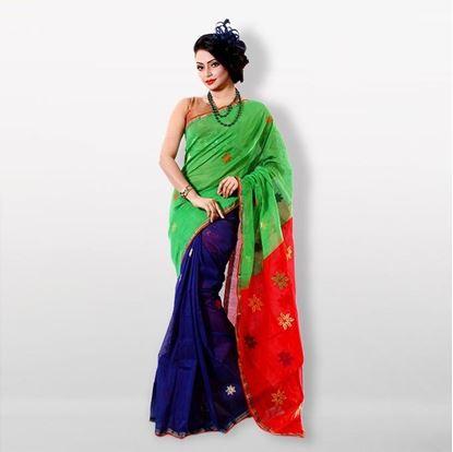 Picture of  Multicolor Half Silk Saree For Women