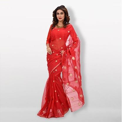 Picture of  Red Half Silk Saree For Women