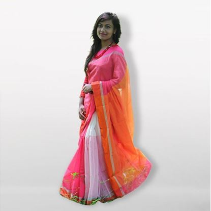 Picture of  Multicolor Silk Cotton Saree For Women