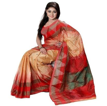 Picture of  Multicolour Cotton Tangail Toshore Saree
