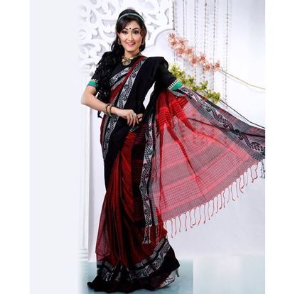 Picture of  Black Silk Saree For Women