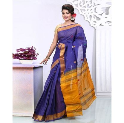 Picture of  Navy Blue Jamdani Saree For Women