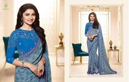 Picture of Original Indian Pure Chiffon Georgette Blue