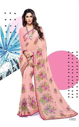 Picture of ORIGINAL INDIAN PURE GEORGETTE SAREE PINK