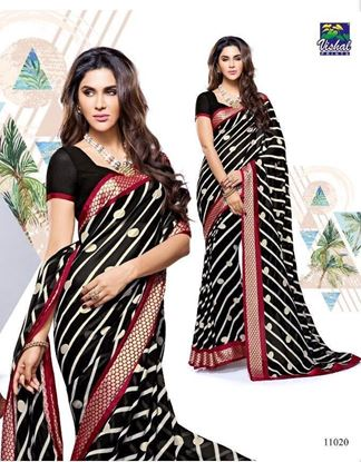 Picture of ORIGINAL INDIAN PURE GEORGETTE BLACK